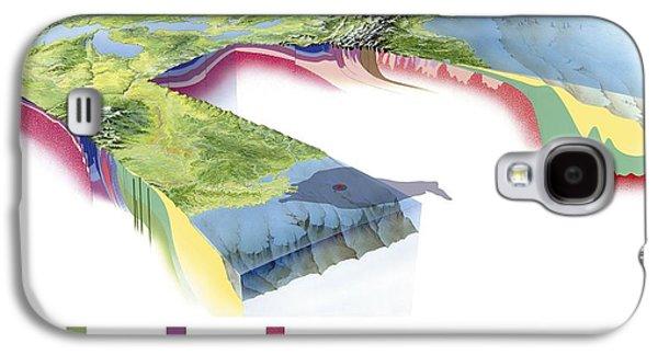 Oil Slick Galaxy S4 Cases - North American Geology And Oil Slick Galaxy S4 Case by Gary Hincks