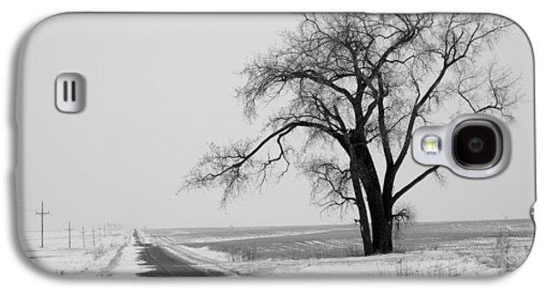 Cold Galaxy S4 Cases - North Dakota Scenic Highway Galaxy S4 Case by Bob Mintie