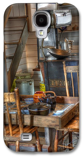 Historical Pictures Galaxy S4 Cases - Nostalgia Country Kitchen Galaxy S4 Case by Bob Christopher
