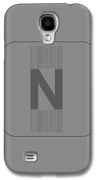Social Galaxy S4 Cases - Not all Tweets Created Equal Poster Galaxy S4 Case by Naxart Studio