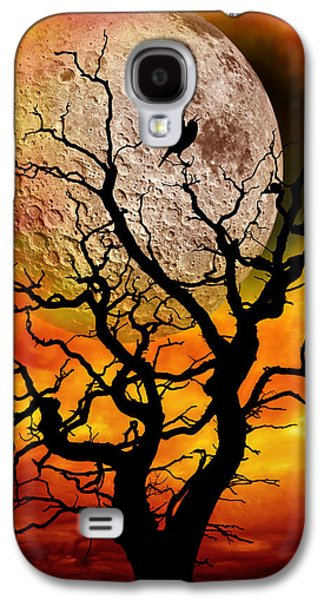 Surreal Landscape Galaxy S4 Cases - Nuclear Moonrise Galaxy S4 Case by Meirion Matthias