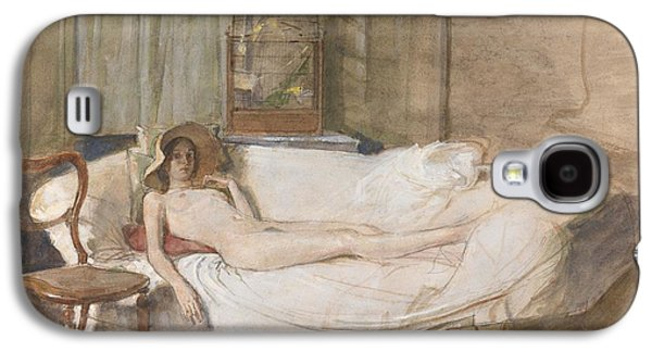 Nude On A Sofa Galaxy S4 Case by John Ward