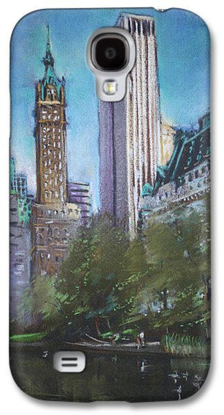 Autumn Landscape Pastels Galaxy S4 Cases - NYC Central Park 2 Galaxy S4 Case by Ylli Haruni