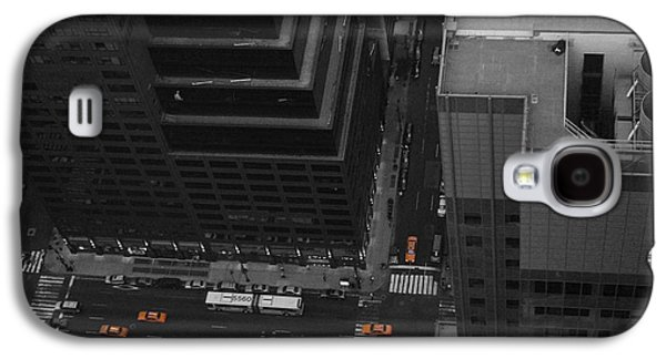 Cab Galaxy S4 Cases - NYC from the Top 1 Galaxy S4 Case by Naxart Studio