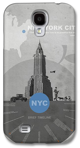 New York Digital Galaxy S4 Cases - NYC Poster Galaxy S4 Case by Naxart Studio