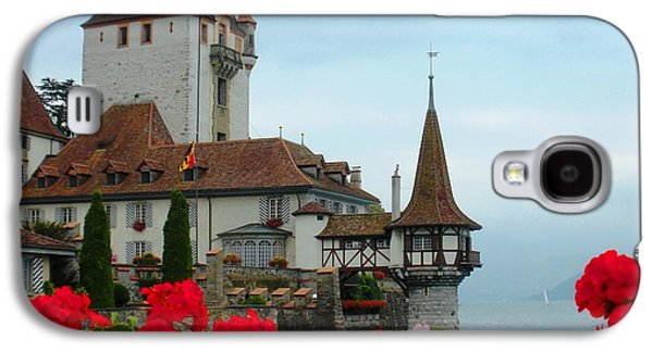 Fantasy Photographs Galaxy S4 Cases - Oberhofen Castle with Flowers Galaxy S4 Case by Marilyn Dunlap