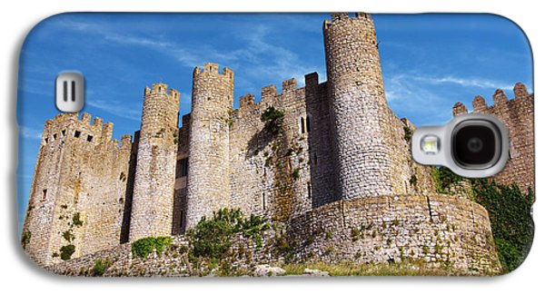 Stone Buildings Galaxy S4 Cases - Obidos Castle Galaxy S4 Case by Carlos Caetano