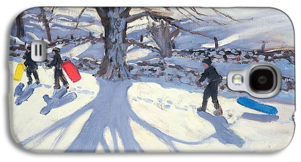 obogganers near Youlegrave Galaxy S4 Case by Andrew Macara