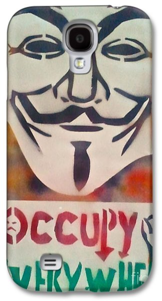 First Amendment Paintings Galaxy S4 Cases - Occupy Mask Galaxy S4 Case by Tony B Conscious