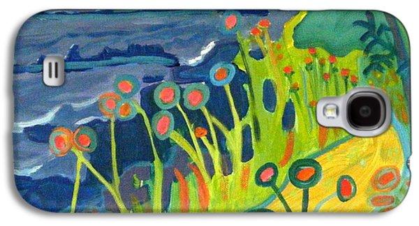 Maine Roads Paintings Galaxy S4 Cases - Ocean Path Kittery Maine Galaxy S4 Case by Debra Bretton Robinson