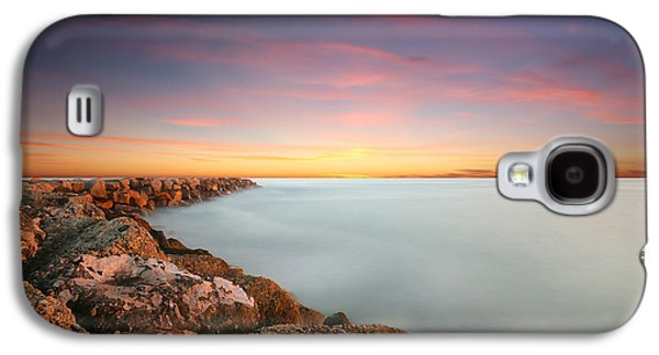 Oceanside Harbor Jetty Sunset Galaxy S4 Case by Larry Marshall