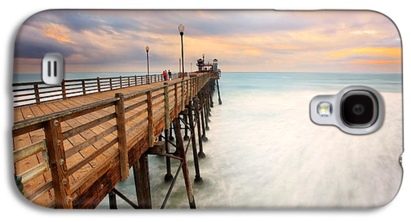 Oceanside Sunset 5 Galaxy S4 Case by Larry Marshall