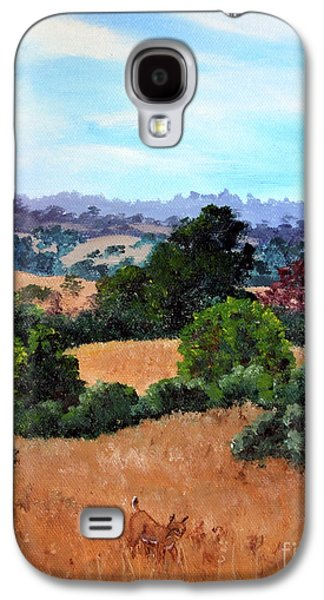 Bobcats Galaxy S4 Cases - October View of Arastradero Galaxy S4 Case by Laura Iverson