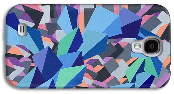 Sunset Abstract Pastels Galaxy S4 Cases - Blue Barge Through the Purple City Galaxy S4 Case by Sean Corcoran