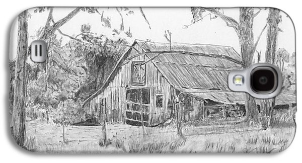 Old Barn Drawing Galaxy S4 Cases - Old Barn 2 Galaxy S4 Case by Barry Jones
