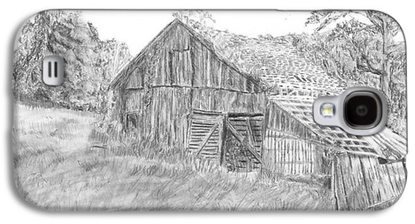 Old Barn Drawing Galaxy S4 Cases - Old Barn 3 Galaxy S4 Case by Barry Jones