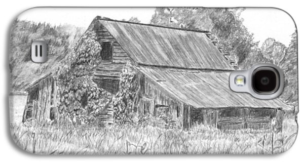 Old Barn Drawing Galaxy S4 Cases - Old Barn 4 Galaxy S4 Case by Barry Jones