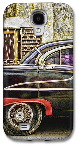 Abstract Digital Pyrography Galaxy S4 Cases - Old Car 2 Galaxy S4 Case by Mauro Celotti