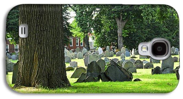 Headstones Galaxy S4 Cases - Old cemetery in Boston Galaxy S4 Case by Elena Elisseeva