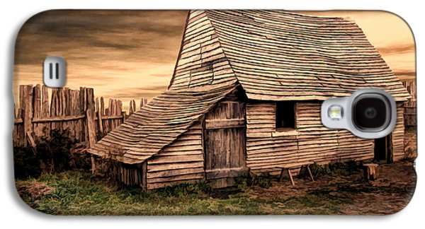 Pastureland Galaxy S4 Cases - Old English Barn Galaxy S4 Case by Lourry Legarde