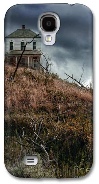 Home Improvement Galaxy S4 Cases - Old Farmhouse with Stormy Sky Galaxy S4 Case by Jill Battaglia