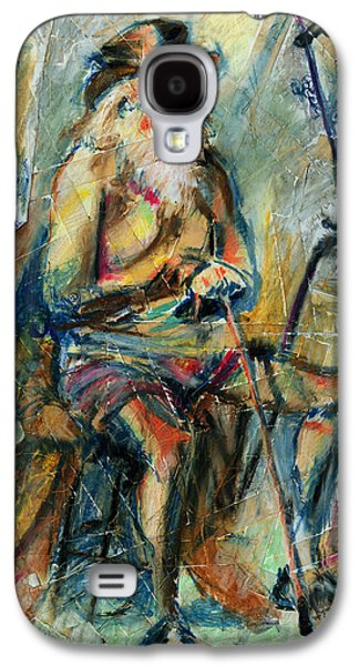 Figure Drawing Galaxy S4 Cases - Old Man in the Chair Galaxy S4 Case by David Finley