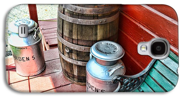Old Milk Cans And Rain Barrel. Galaxy S4 Case by Paul Ward