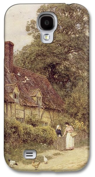 Country Paintings Galaxy S4 Cases - Old Post Office Brook near Witley Surrey Galaxy S4 Case by Helen Allingham