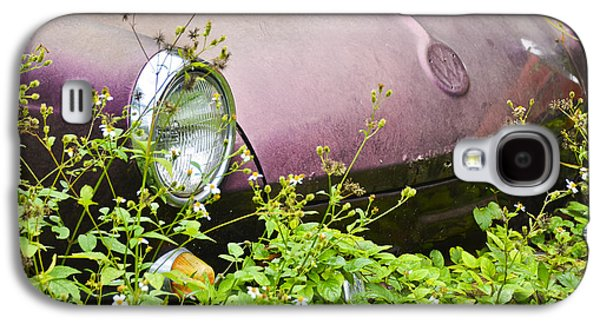 Antique Automobiles Galaxy S4 Cases - Old Purple Galaxy S4 Case by Carolyn Marshall