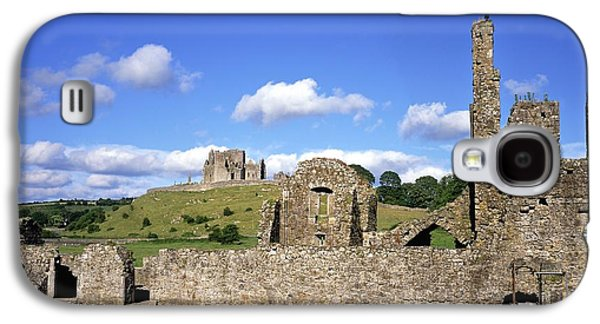 Monasticism Galaxy S4 Cases - Old Ruins Of An Abbey With A Castle In Galaxy S4 Case by The Irish Image Collection