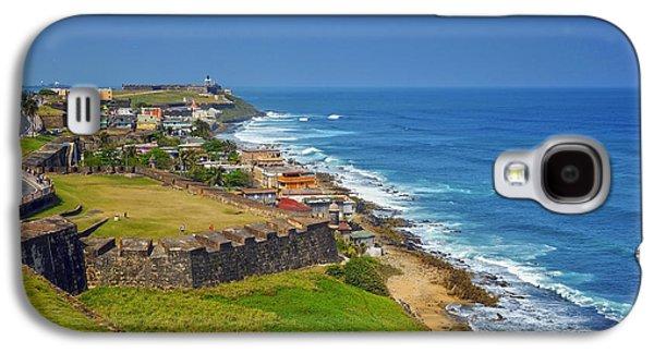 Puerto Rico Galaxy S4 Cases - Old San Juan Coastline Galaxy S4 Case by Stephen Anderson