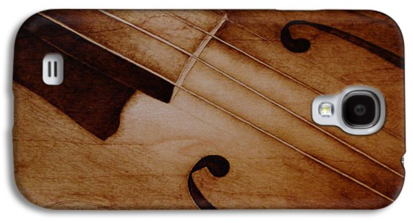 Music Pyrography Galaxy S4 Cases - Old Song Galaxy S4 Case by Jo Schwartz