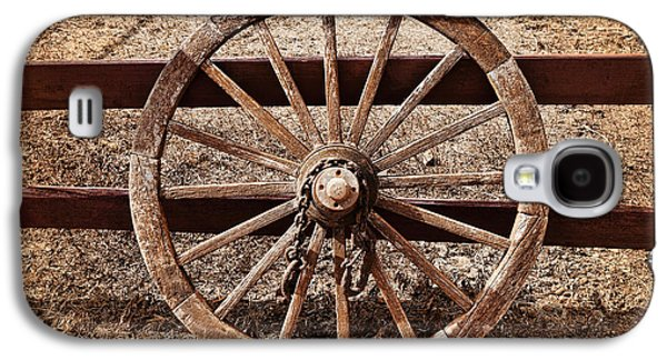 Wooden Wagons Galaxy S4 Cases - Old West Wheel Galaxy S4 Case by Kelley King