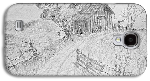 Shed Drawings Galaxy S4 Cases - Old Woodshed II Galaxy S4 Case by Debbie Portwood