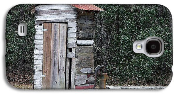 Old Pitcher Galaxy S4 Cases - Oldtime Outhouse - Digital Art Galaxy S4 Case by Al Powell Photography USA