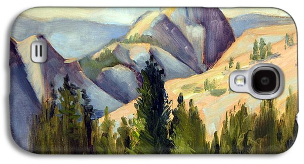 Half Dome Paintings Galaxy S4 Cases - Olmstead Point Galaxy S4 Case by Karin  Leonard