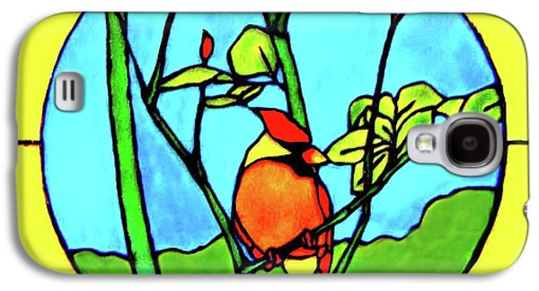Bright Colors Glass Art Galaxy S4 Cases - On The Branch Galaxy S4 Case by Farah Faizal
