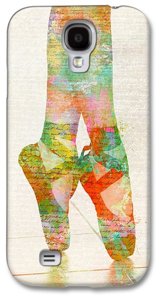 Ballet Dancers Digital Art Galaxy S4 Cases - On Tippie Toes Galaxy S4 Case by Nikki Marie Smith