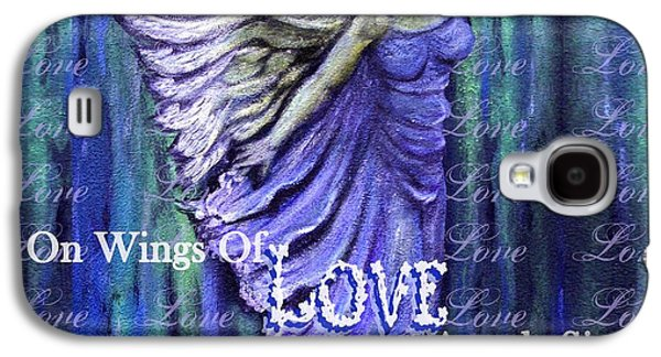 Charlotte Mixed Media Galaxy S4 Cases - On Wings Of Love Angels Sing Galaxy S4 Case by The Art With A Heart By Charlotte Phillips