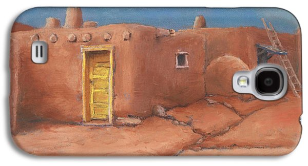Taos Galaxy S4 Cases - One Yellow Door Galaxy S4 Case by Jerry McElroy