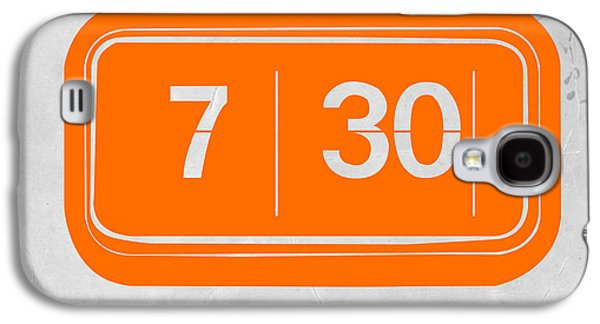 Electronic Galaxy S4 Cases - Orange alarm Galaxy S4 Case by Naxart Studio