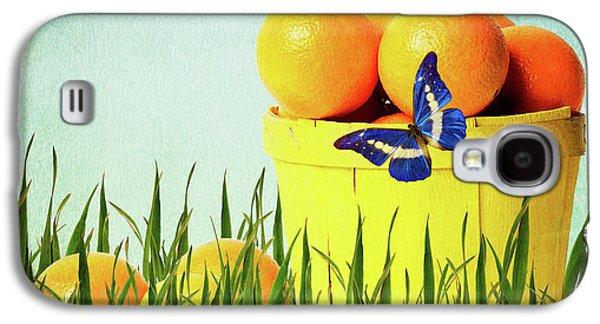 Orange Mixed Media Galaxy S4 Cases - Orange Galaxy S4 Case by Angela Doelling AD DESIGN Photo and PhotoArt