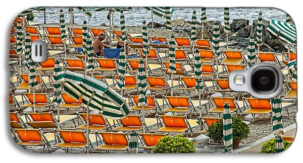 Chair Pyrography Galaxy S4 Cases - Orange Beach Chairs  Galaxy S4 Case by Mauro Celotti