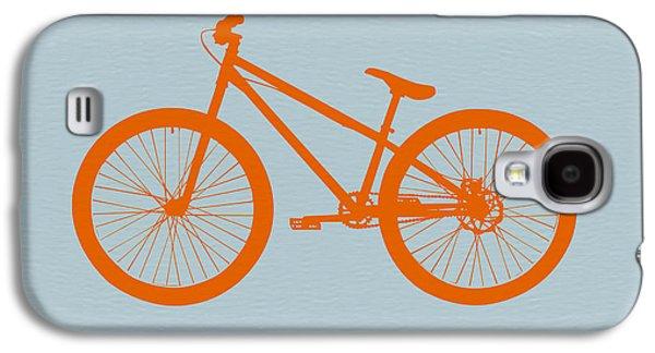 Automotive Digital Art Galaxy S4 Cases - Orange Bicycle  Galaxy S4 Case by Naxart Studio