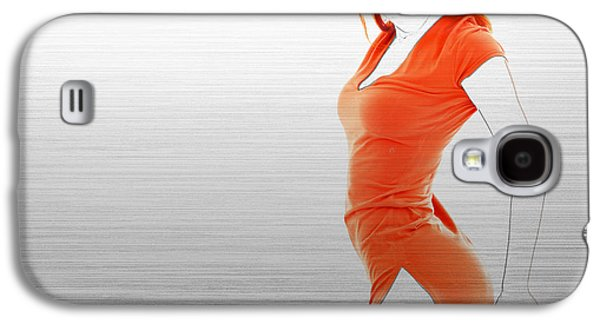Jewelry Galaxy S4 Cases - Orange Dress Galaxy S4 Case by Naxart Studio