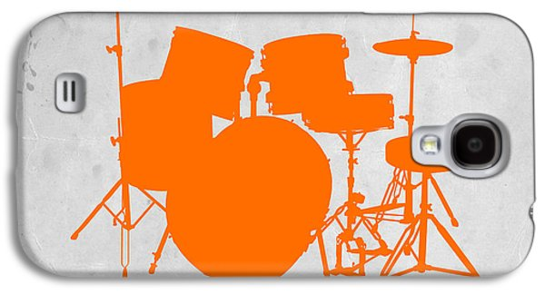 Kids Room Art Galaxy S4 Cases - Orange Drum Set Galaxy S4 Case by Naxart Studio