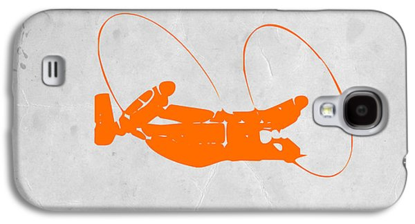 Sound Digital Art Galaxy S4 Cases - Orange Plane Galaxy S4 Case by Naxart Studio