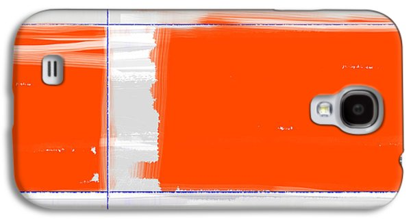 Shapes Galaxy S4 Cases - Orange Rectangle Galaxy S4 Case by Naxart Studio