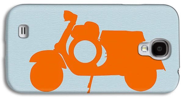 Orange Scooter Galaxy S4 Case by Naxart Studio