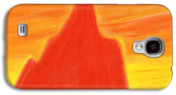 Abstract Landscape Pastels Galaxy S4 Cases - Orange Sunset Galaxy S4 Case by Hakon Soreide